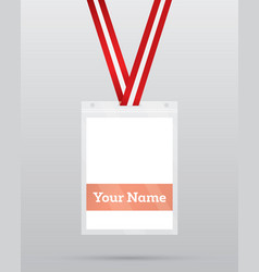 Identification card with lanyard for access vector
