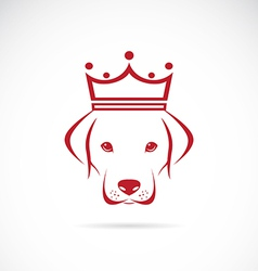 Image of a dog head wearing a crown vector