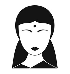 Indian woman icon simple style vector