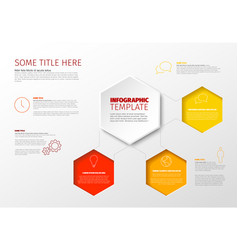 Infographic report template vector