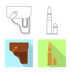 Isolated object of weapon and gun symbol vector