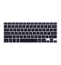 laptop qwerty keyboard with black key buttons vector image