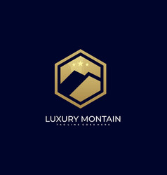 luxury mountain template vector image