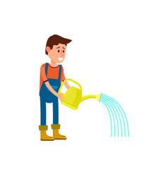 male farmer watering icon vector image