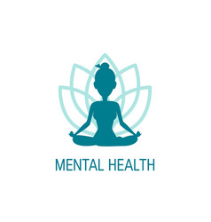mental health concept in simple flat style vector image