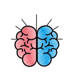 Mental health smart brain icon vector