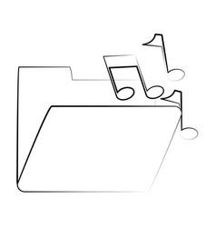 Music playlist folder vector