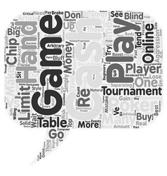 Online Poker Tournaments vs Cash Games text vector image