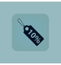 Pale blue discount icon vector