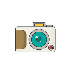 photo camera icon modern minimal flat design style vector image vector image