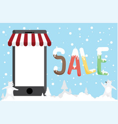 promotion shopping online colo vector image