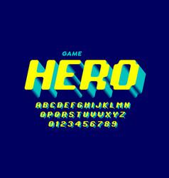 Retro computer game style font design alphabet vector