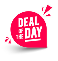 Round deal day label vector