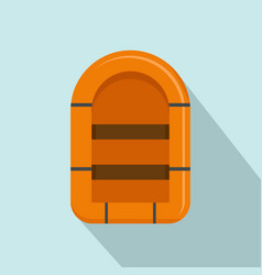 rubber boat icon flat style vector image