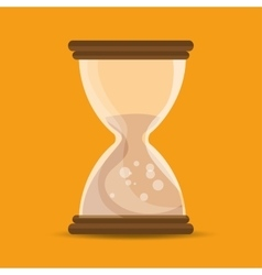 Sand clock time school education online symbol vector