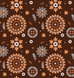 seamless pattern autumn leaves vector image