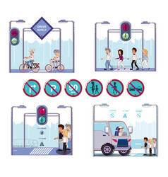 security of pedestrian in the road vector image