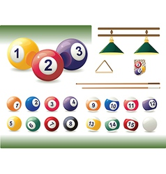 Set of Billiard Accessories vector image
