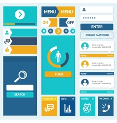 Set of flat web design elements vector image