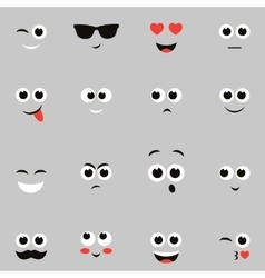 Sketches funny smiley faces vector