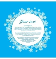 Snowflakes on a blue background with place vector