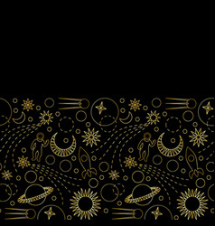 space luxury seamless border vector image
