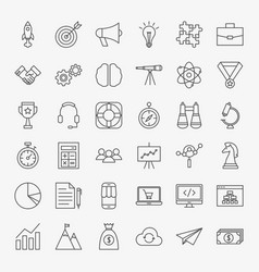 Startup line icons vector