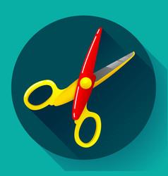 stationery colored plastic scissors icon vector image