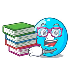 Student with book number zero isolated on the vector