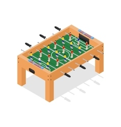 Table Football Game Isometric View vector