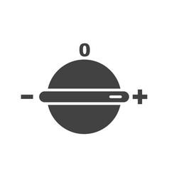 temperature knob vector image