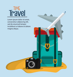 Time travel brochure marketing template vector