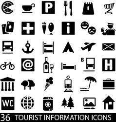 TouristIconsSet vector image