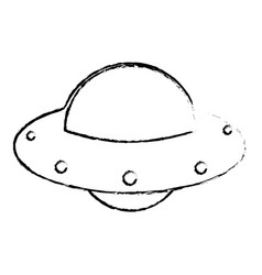 ufo spaceship technology image sketch vector image