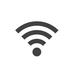 wifi icon in flat style gray color white vector image
