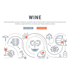 Wine Banner for Website Banner and Landing Page vector image