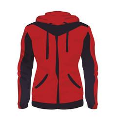 Women fitness jacket vector