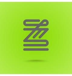 z letter z type line shape z line logo design vector image