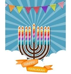 Abstract Background Happy Hanukkah Jewish Holiday vector image
