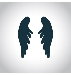 Angel wings silhouette vector image