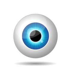 Blue Eye on White Background vector image vector image