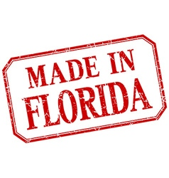 Florida - made in red vintage isolated label vector