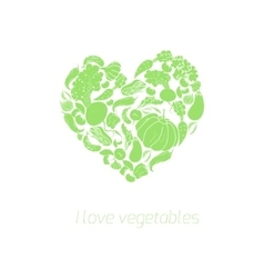 Heart vegetables food vector image vector image