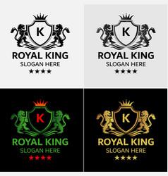 modern lion king logo vector image vector image