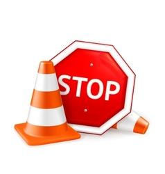 Road repair vector image vector image