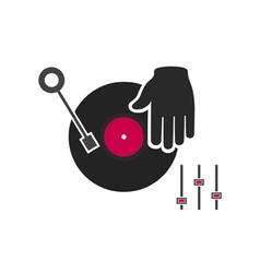 Hand of the DJ vector image vector image