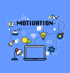 Motivation graphic for business concept vector