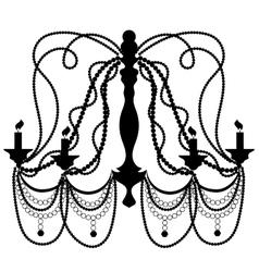 Retro Cryctal Chandelier vector image vector image