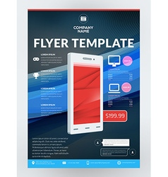 Business Flyer Design Template for Mobile vector image