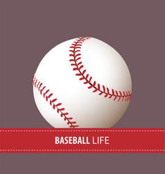 close up baseball ball vector image vector image